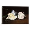 <strong>iCanvasArt</strong> 'Branch of White Peonies and Secateurs' by Edouard Manet Painting Print on Canvas