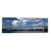 iCanvas Panoramic Ambassador Bridge, Detroit River, Detroit, Wayne County, Michigan Photographic Print on Canvas