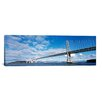 iCanvas Panoramic Bay Bridge, San Francisco Bay, San Francisco, California Photographic Print on Canvas