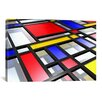 <strong>iCanvasArt</strong> 'Abstract Mondrian Style' by Michael Tompsett Graphic Art on Canvas