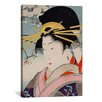 iCanvasArt A Courtesan Japanese Woodblock Painting Print on Canvas
