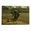 iCanvas 'Aardappelrooister (Peasant Woman, Harvesting Potatoes)' by Vincent van Gogh Painting Print on Canvas
