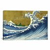 iCanvas 'A Colored Version of The Big Wave' by Katsushika Hokusai Painting Print on Canvas
