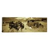 iCanvas Panoramic Abandoned Car Photographic Print on Canvas