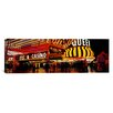 iCanvas Panoramic Casino Lit up at Night, Four Queens Photographic Print on Canvas