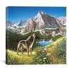 "<strong>iCanvasArt</strong> ""Alpine Chorus"" Canvas Wall Art by John Van Straalen"