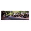 iCanvasArt Panoramic Cars Parked at The Roadside, College Avenue Photographic Print on Canvas