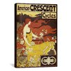 <strong>iCanvasArt</strong> 'American Crescent Bicycles' by Fred Ramsdell Vintage Advertisement on Canvas