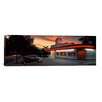 iCanvas Panoramic Cars Parked outside a Restaurant, Route 66, Albuquerque, New Mexico Photographic Print on Canvas