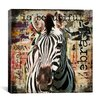 "<strong>iCanvasArt</strong> ""Zebra Torn Posters"" by Luz Graphics Graphic Art on Canvas"