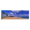 <strong>iCanvasArt</strong> Panoramic Ala Moana Beach Honolulu HI Photographic Print on Canvas