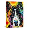 iCanvas 'Akita' by Dean Russo Graphic Art on Canvas