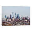 iCanvas Panoramic Buildings in a City, Comcast Center, Center City, Philadelphia, Pennsylvania Photographic Print on Canvas