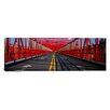iCanvas Panoramic Arrow Signs on a Bridge, Williamsburg Bridge Photographic Print on Canvas