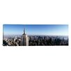 iCanvas Panoramic Aerial View of a Cityscape, Empire State Building, Manhattan, New York City, New York State Photographic Print on Canvas