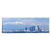iCanvas Panoramic Buildings in a City with Snowcapped Mountains in the Background, San Gabriel Mountains, City of Los Angeles, California Photographic Print on Canvas