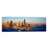 iCanvasArt Panoramic Aerial View of a City, Navy Pier, Lake Michigan, Chicago, Cook County Photographic Print on Canvas