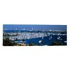 iCanvasArt Panoramic Aerial View of Boats Moored at a Harbor, San Diego, California Photographic Print on Canvas