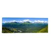 iCanvasArt Panoramic Aerial View of a Ski Resort, Alyeska Resort, Girdwood, Chugach Mountains, Anchorage, Alaska Photographic Print on Canvas