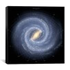 iCanvasArt Annotated Roadmap of the Milky Way (NASA) Canvas Wall Art