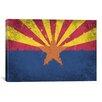 iCanvas Arizona Flag, Grunge Painted Graphic Art on Canvas