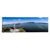iCanvas Panoramic Aerial View of a Statue, Statue of Liberty, New York City, New York State Photographic Print on Canvas