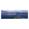 iCanvas Panoramic Aerial View of a Harbor, Pearl Harbor, Honolulu, Oahu, Hawaii Photographic Print on Canvas