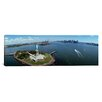 iCanvasArt Panoramic Aerial View of a Statue, Statue of Liberty, New York City, New York State Photographic Print on Canvas