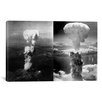 iCanvas Atomic Bombings of Hiroshima and Nagasaki Photographic Print on Canvas