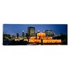 iCanvas Panoramic Buckingham Fountain Decorated for Christmas, Chicago, Illinois Photographic Print on Canvas