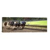 iCanvasArt Panoramic At the Race Track Photographic Print on Canvas