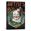 iCanvas 'Artists Costumer Ball' by Norman Rockwell Vintage Advertisment on Canvas