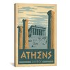 <strong>iCanvasArt</strong> 'Athens, Greece' by Anderson Design Group Vintage Advertisement on Canvas