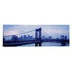 iCanvasArt Panoramic Skyscrapers in a City, Manhattan Bridge, New York Photographic Print on Canvas