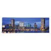 iCanvasArt Panoramic View of an Urban Skyline at Twilight, Baltimore, Maryland Photographic Print on Canvas