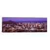 iCanvas Panoramic City Lit up at Dusk, Honolulu, Oahu, Hawaii 2010 Photographic Print on Canvas