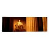 iCanvas Panoramic Night Lincoln Memorial, Washington DC, District of Columbia Photographic Print on Canvas