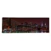 iCanvasArt Panoramic Jane's Carousel at the Base of the Brooklyn Bridge, New York City Photographic Print on Canvas