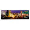 <strong>iCanvasArt</strong> Panoramic High Angle View of a City Las Vegas, Nevada Photographic Print on Canvas