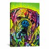 iCanvas 'Hey Bulldog' by Dean Russo Graphic Art on Canvas