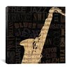 <strong>iCanvasArt</strong> Jazz Improv II Canvas Wall Art from NBL Studio