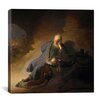 "iCanvas ""Jeremiah Lamenting The Destruction of Jerusalem"" Canvas Wall Art by Rembrandt"