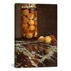 <strong>iCanvasArt</strong> 'Jar of Peaches (Das Pfirsichglas)' by Claude Monet Painting Print on Canvas