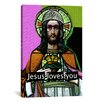 """iCanvas """"Jesus Loves Ya"""" by Luz Graphics Graphic Art on Canvas"""