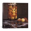 "iCanvasArt ""Jar of Peaches (Das Pfirsichglas)"" Canvas Wall Art by Claude Monet"