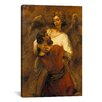 iCanvasArt 'Jacob Wrestling with an Angel' by Rembrandt Painting Print on Canvas