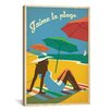 iCanvas 'J'aime la Playa' by Anderson Design Group Vintage Advertisement on Canvas
