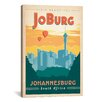 iCanvas 'JoBurg - Johannesburg, South Africa' by Anderson Design Group Vintage Advertisement on Canvas