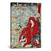 iCanvasArt 'Japanese Jigoku Dayu (Hell Courtesan)' by Kawanabe Kyosai Painting Print on Canvas