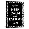 iCanvas Keep Calm and Tattoo On Textual Art on Canvas